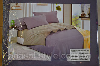 Постельный комплект двуспальный сиреневый серый