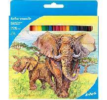 """Олівці кольорові KITE на 24кол. K17-055-1 """"Кайт Тварини"""""""