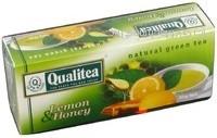 Чай зеленый с цедрой лимона и ароматом меда и лимона  Qualitea, 25 пак