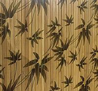 """Бамбуковые обои """"Листья бамбука"""" коричневые"""