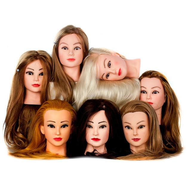 Учебные головы для причесок и макияжа