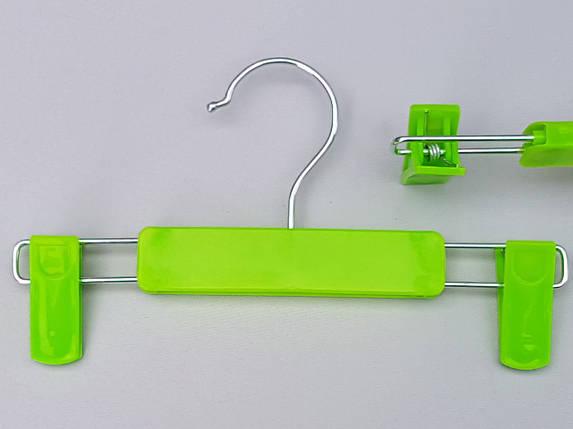 Плечики вешалки тремпеля для брюк и юбок салатового цвета, длина 22,5 см, фото 2