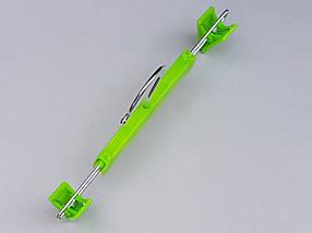 Плечики вешалки тремпеля для брюк и юбок салатового цвета, длина 22,5 см, фото 3