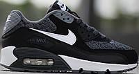 Кроссовки летние Nike Air Max 90 GS Woven White Black Grey от магазина tehnolyuks.prom.ua 099-4196944