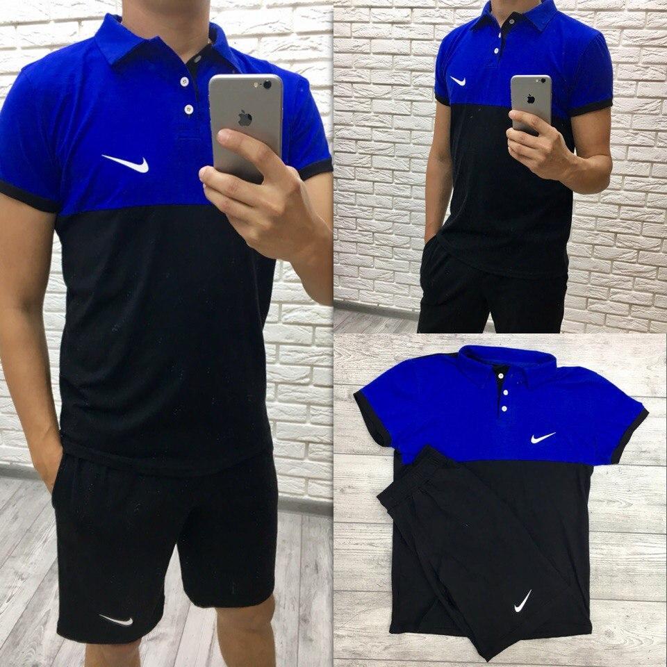 Спортивный мужской костюм летний футболка и шорты, реплика Nike