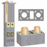 Двухходовой керамический дымоход с вентиляционным каналом Schiedel UNI D160/160+V L9