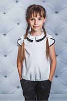 Блуза школьная софт белая