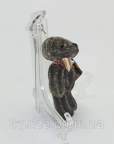 Брелок   мишка с бантиком черный, фото 2