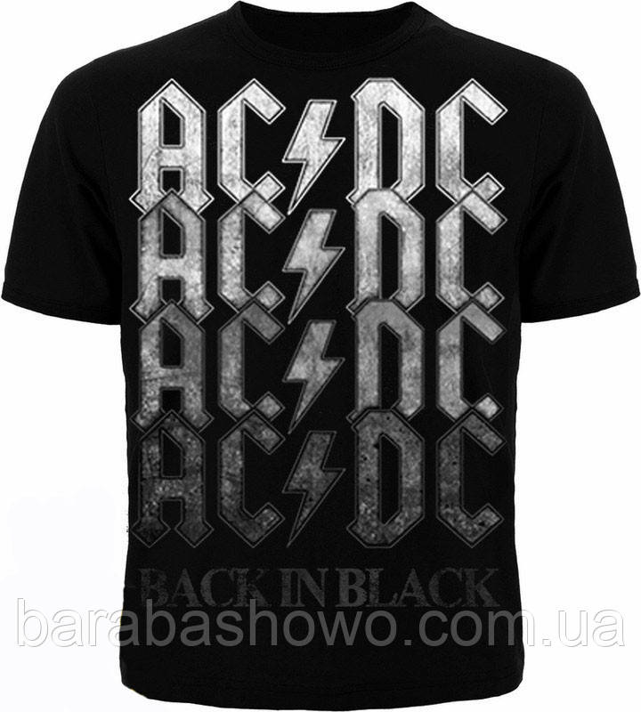 Рок футболка AC/DC. Back in Black