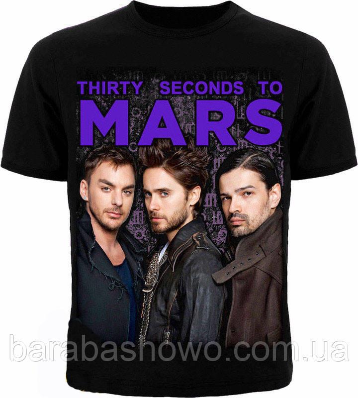 Рок футболка 30 Seconds to Mars.