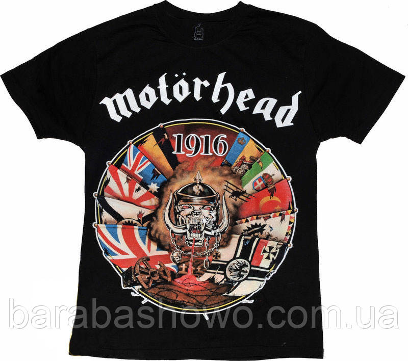 Рок футболка Motorhead 1916