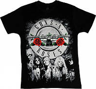 Рок футболка Guns'N'Roses (лого и фото группы)