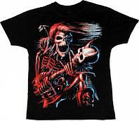 Рок футболка Скелет с гитарой