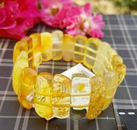 """Массивный браслет  """"Золото скифов"""" с медовым натуральным янтарем"""