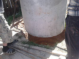 Копка канализацыи в Броварах. 1