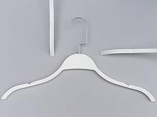 Плічка вішалки тремпеля LT903 білого кольору, довжина 41,5 см