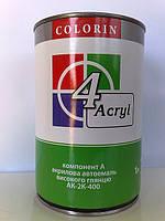202 Снежно-белая АК-2К-400 КОЛОРИН Акриловая эмаль 2:1 (комплект 1л + 0,5л)