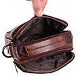 Стильная мужская кожаная сумка BR9354 коричневая, фото 7