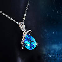 Серебряное Ожерелье Капля Воды