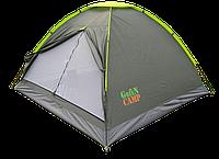 Палатка трехместная GreenCamp 1012 (Польша) 200х200х140. Распродажа!