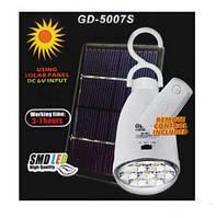 Аварийная светодиодная лампа с аккумулятором на солнечной батарее GDLITE GD-5007s