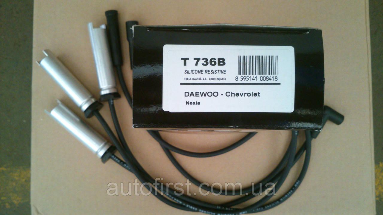 Комплект проводов зажигания Tesla T736B Daewoo-Chevrolet Nexia 1.5
