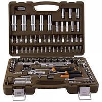 Универсальный набор инструмента, 94 предмета, с 12-гр. головками, OMBRA (OMT94S12)
