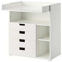 STUVA Пеленальный стол/4 ящика, белый