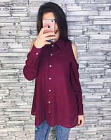 Рубашка женская из шелка с длиным рукавом на пуговицах P6393