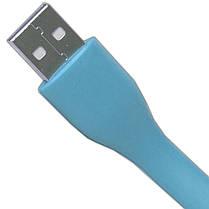 Гибкая светодиодная лампа MI синяя для компьютера ноубука USB подсветка клавиатуры универсальная яркая, фото 3