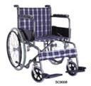 KY 873 46cm стальная инвалидная коляска, тканевая (клетка)