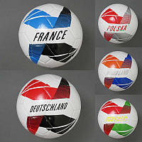 Мяч футбольный 779-830 (60) 310-330 грамм, 5 видов