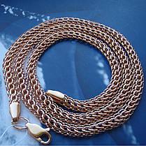 Серебряная позолоченная цепочка, 550мм, 25 грамм, плетение Питон, фото 3