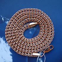 Серебряная позолоченная цепочка, 550мм, 25 грамм, плетение Питон, фото 2