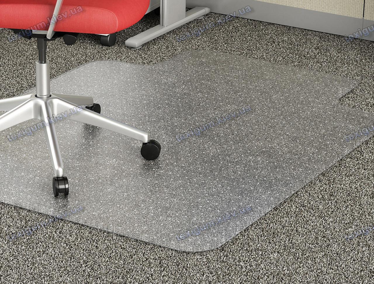 Захисний килим під крісло прозорий 122х152см для ковроліну Німеччина. Товщина 5,0 мм
