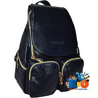 Стильный молодежныйрюкзакJingPin7009, экокожа, 2 передних кармана , (в модели 3 расцветки). (мин.заказ 1