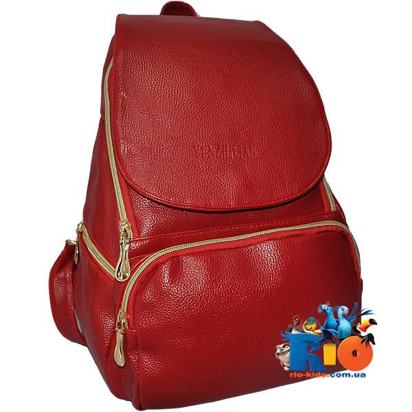 Стильный молодежныйрюкзакJingPin7009, экокожа, 1 передний карман , ( модель-3 расцветки). (мин.заказ 1 ед