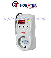 """Терморегулятор в розетку TP - 12 /3 ( с функцией реле напряжения), """"Новатек-Электро"""""""