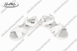 Детские сандалии белые (Код: 2610)