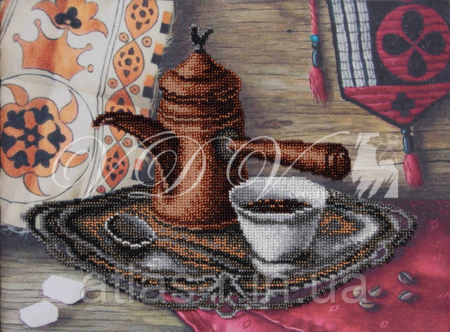 """Схема для часткової вишивки бісером """"Смак кави"""""""