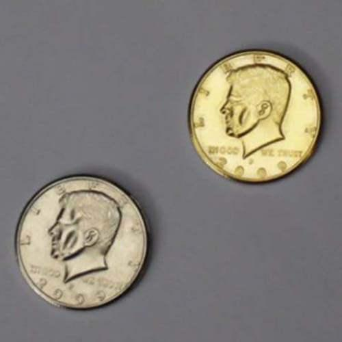 Double Side Half Dollar (head) - Half Gold , Half Silver