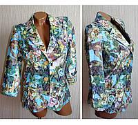 Пиджак женский в цветочную пастель 44 размер