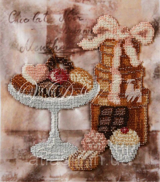 """Схема для часткової вишивки бісером """"Шоколад"""""""