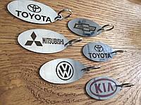 Брелок для ключей автомобиля с номером телефона