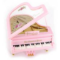 Рояль музыкальный розовый
