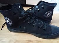 Converse all star Full black high chuck taylor кеды конверс полностью черные высокие р. 36-46
