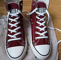Converse all star cherry high кеды вишневые марсала бордовые высокие конверс р. 35-45
