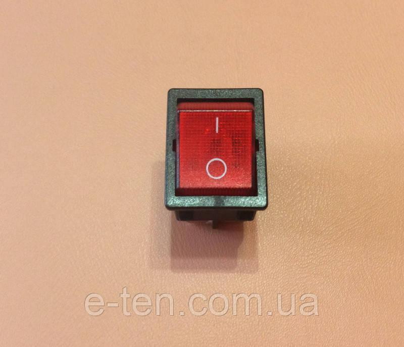 Кнопка вкл / выкл одинарная (ШИРОКАЯ) модель S12111 / 16А / 250V / T125 (со светодиодом)    SETEL, Турция