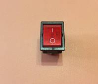 Кнопка вкл / выкл одинарная ( широкая ) 16А / 250V / T125 (со светодиодом)     Турция
