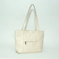 Женская сумка кожаная 30 светло-бежевый флотар 01300108